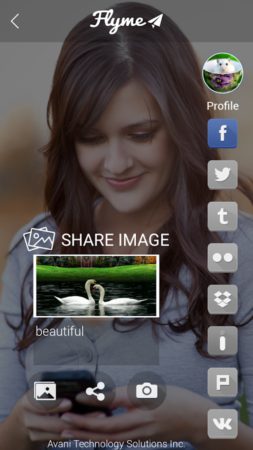 FlyMe - One Click Social Share- screenshot