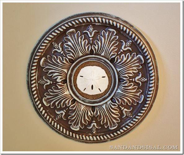 Sand Dollar Ceiling Medallion Art