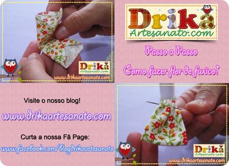 12 Passo a Passo como fazer fuxico Drika Artesanato post