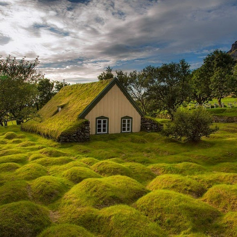 The Last Turf Church of Hof, Iceland