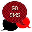 GO SMS - Houndstooth Red icon