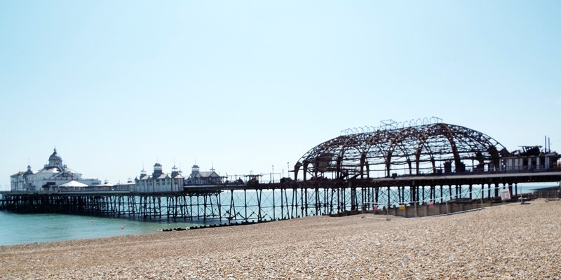 Eastbourne pier burnt