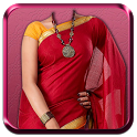 Woman Saree Photo Montage icon