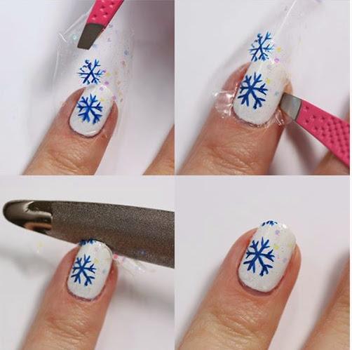 Snowflake Nail Art Tutorial: Winter Nail Art Tutorials For Beginners & Learners 2015
