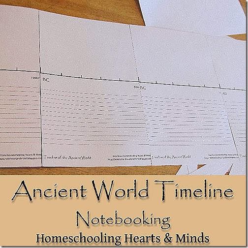 Don't forget to download your Free printable Ancient World Timeline from Homeschooling Hearts & Minds