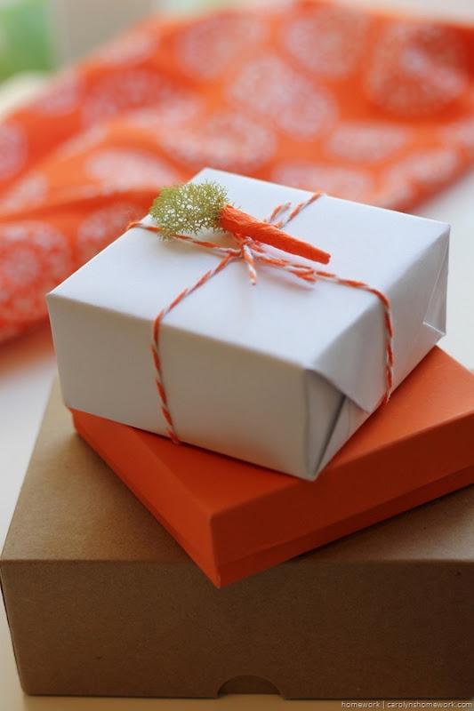 Miniature Crepe Paper Carrots - homework (4)
