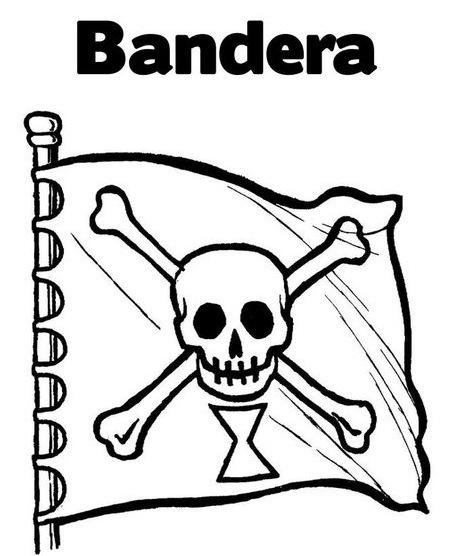 BANDERAS PIRATAS PARA PINTAR