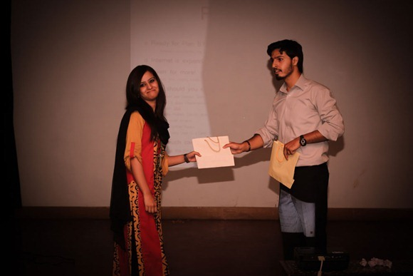 Pernia Chowdhury being gifted