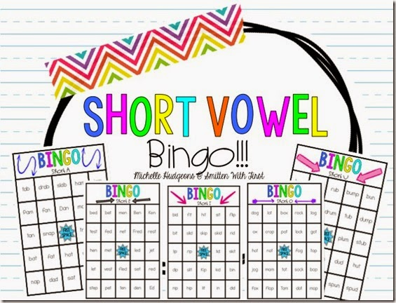 Short Vowel Bingo Freebie Smitten With First