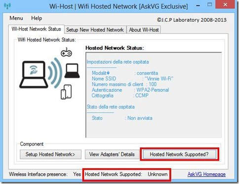 Wi-Host Wi-Host Network Status