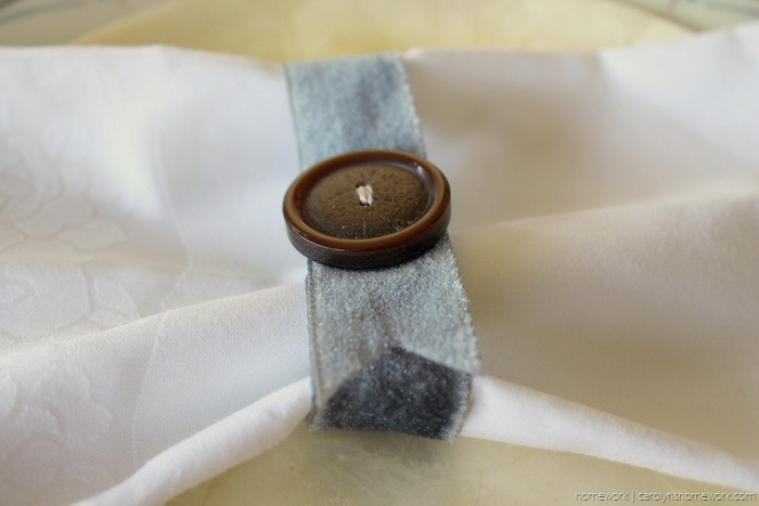 Vintage Button Napkin Ring via homework - carolynshomework (1)