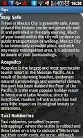 Screenshot of Mexico City Travel Guide