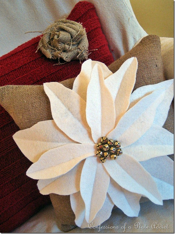 CONFESSIONS OF A PLATE ADDICT Pottery Barn Inspired Poinsettia Pillow