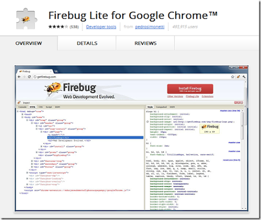 Firebug download chrome