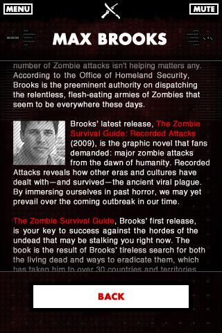 Zombie Survival Guide Scanner - screenshot