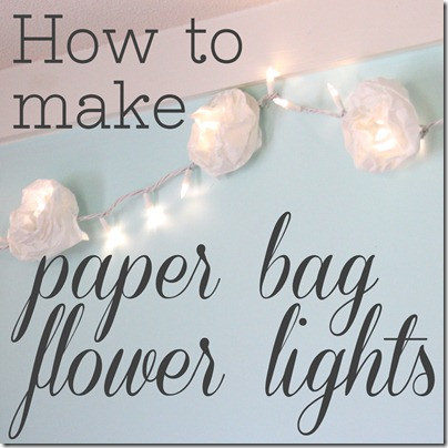 paper bag flower lights