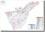 Mapa red de senderos del area de medioambiente de tenerife