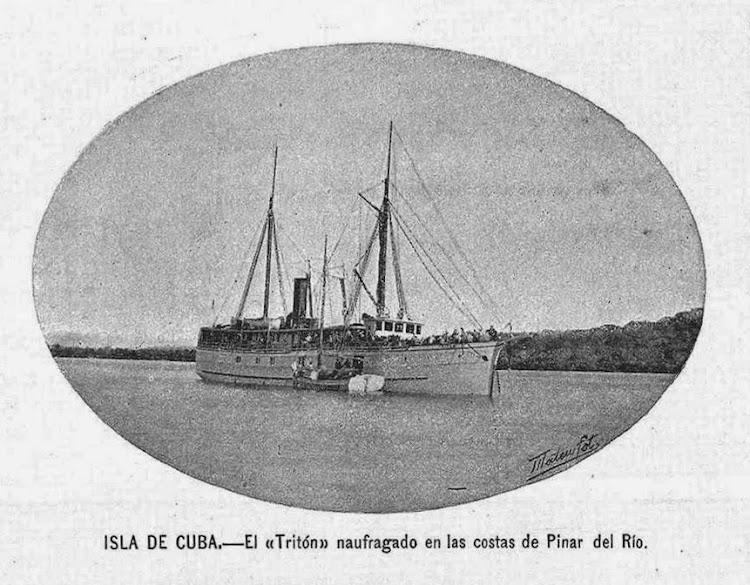Vapor TRITON. LA ILUSTRACION NACIONAL. 26 de octubre de 1897.jpg