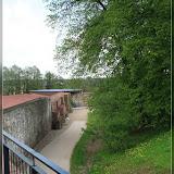Blick von der Burgmauer in den Burghof