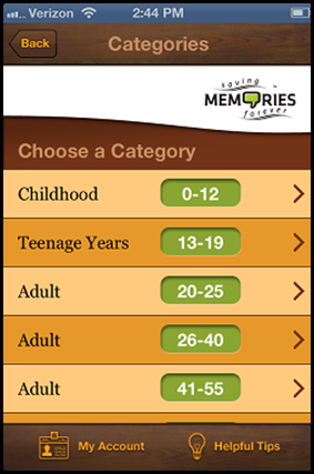 Saving Memories Forever Age Options
