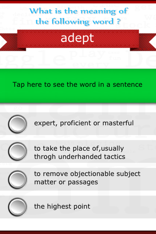 Virtual SAT Tutor - Vocabulary - screenshot