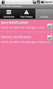 Pink SMS Scheduler screenshot 4
