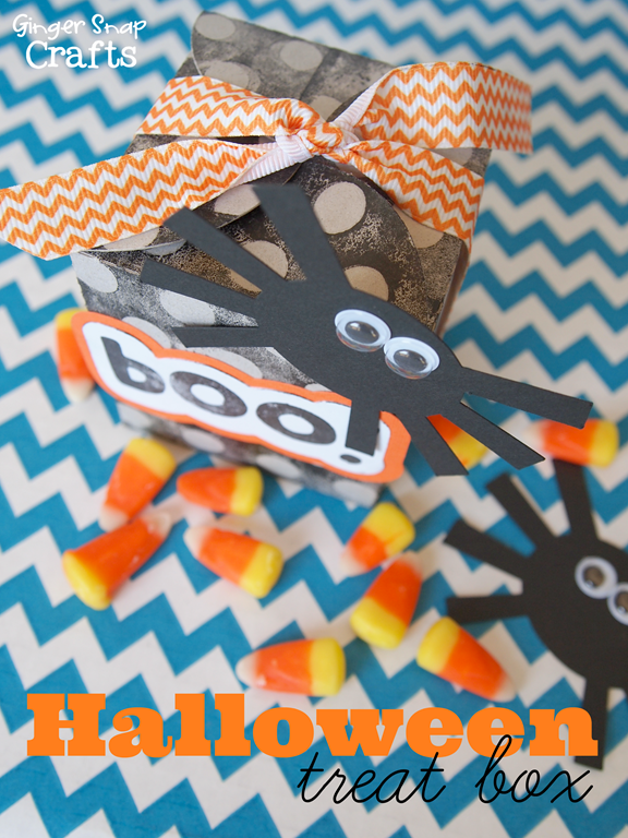 Halloween Treat Box with Silhouette Stamping Material #tutorial #spon