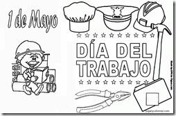 1º de mayo: Dibujos para colorear del día del trabajador: