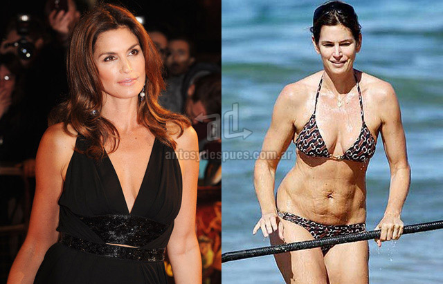 Cellulite of Cindy Crawford