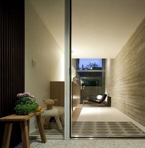 arquitectura contemporanea muro de hormigon visto