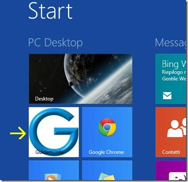 Piastrella schermata Start Windows 8 creata con OblyTile