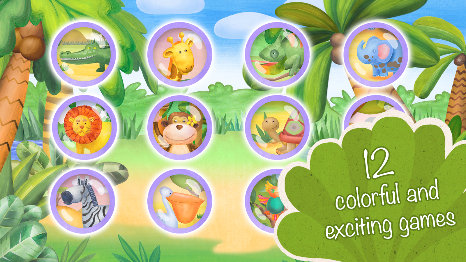 Animals for Kids: safari zoo- screenshot