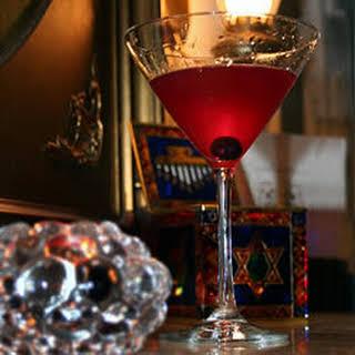 Blueberry Vodka Martinis.
