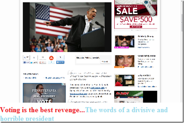 Obama divisive and horrible