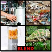 BLEND- 4 Pics 1 Word Answers 3 Letters