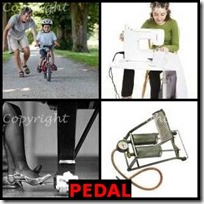 PEDAL- 4 Pics 1 Word Answers 3 Letters