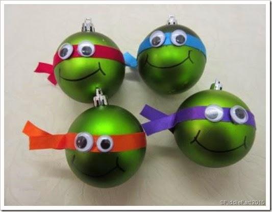 Ninja Turtle Christmas Tree.It S All Fiddle Fart Ninja Turtle Christmas Tree Baubles