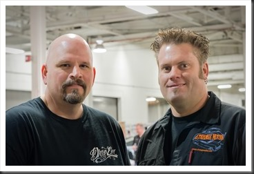 Bubba Harmon of Bubba's Garage and Tim Strange of Strange Motion