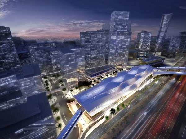 metro Rey Abdullah Financial District de Zaha Hadid