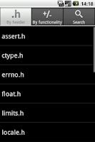 Screenshot of C Reference