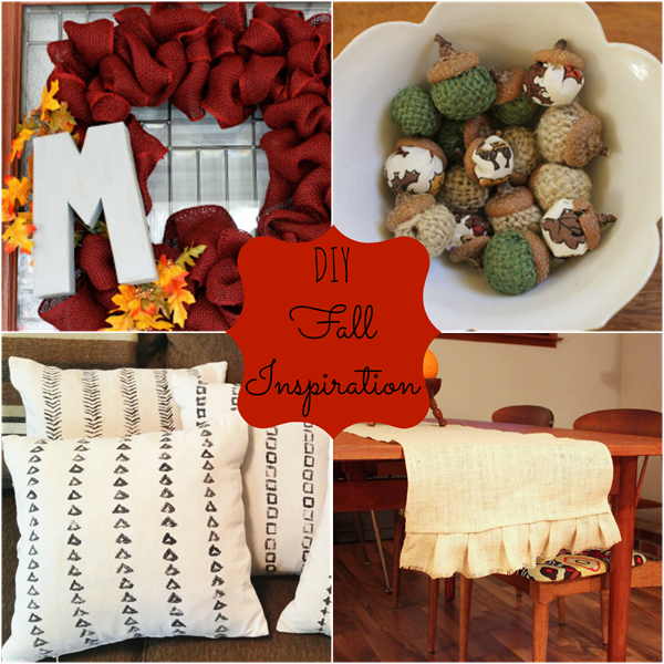 DIY Fall Burlap Inspiration - Fall Craft Projects - Fall Home Decor