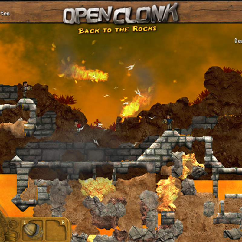 OpenClonk is a free multiplayer action game where you control clonks, small but witty and nimble humanoid beings.