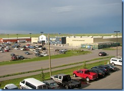 1212 Alberta Hwy 6 South Pincher Creek - view of Wal-Mart from our hotel window