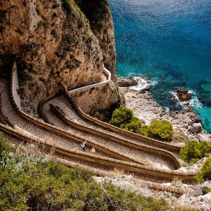 Via Krupp of Capri Island