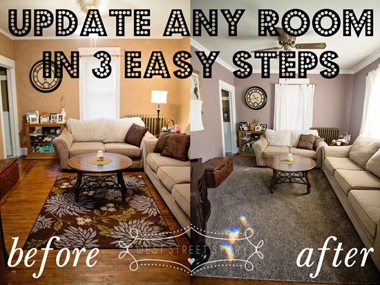 How We Updated Our Living Room In Three Easy Steps Life On The