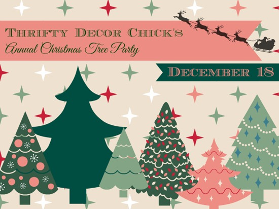 Thrifty Decor Chick Christmas tree party