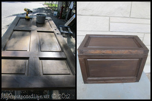 an old door makes a great trunk or chest & Old Door : Project Ideas for Repurposed Doors - My Repurposed Life®