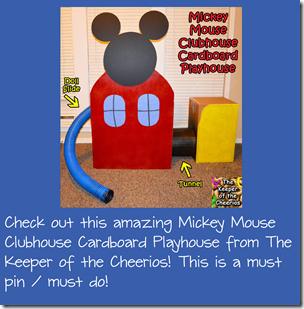DIY Mickey Mouse Clubhouse from Cardboard Box