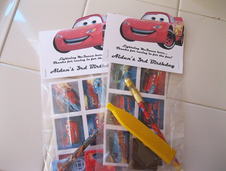 To Enjoy Simply Cars Themed Goodie Bags