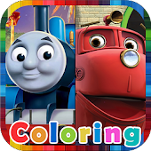 Trains Coloring for Kids